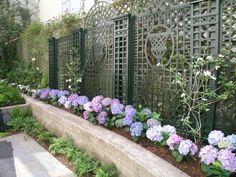 garten pflanzen arten zonen aufteilen hortensien