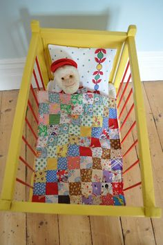 doll quilt - HenHouse blog
