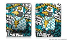 Hiphop crow RAVEN  ipad tuning skin brand 'graphicer & wall paper - designed by DOLDOL