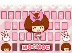 43- Skin feito p mim da mocmoc #silvinhacastro Kawaii, Keyboard, Wallpapers, Phone, Ideas, Drawings, Kawaii Cute, Wallpaper, Telephone
