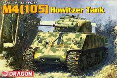 Maquette -  Kit M4 (105) Howitzer Tank – DRAGON 6548