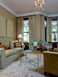 Charles Of London Sofa Design, Pictures, Remodel, Decor and Ideas - page 5 Curtains Living, Living Room Sofa, Living Room Interior, Living Room Decor, Tall Curtains, Silk Drapes, Door Curtains, Living Area, Living Room Color Schemes