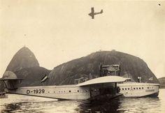 Dornier DOX, fundeado na Enseada de Botafogo em seu voo de propaganda em 1931.
