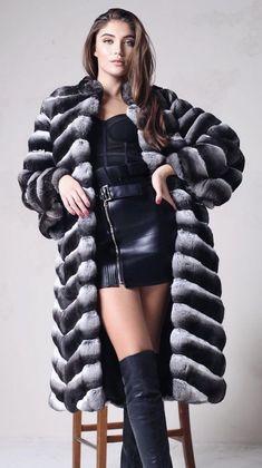 Latex Boots, Chinchilla Fur, Fur Coats, Furs, Winter Jackets, Leather, Women, Fashion, Winter Coats