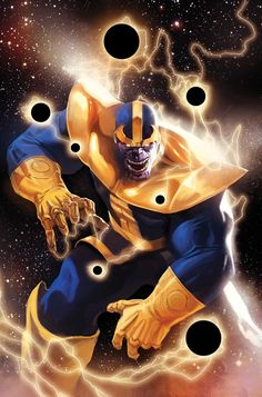 Thanos by Marko Djurdjevic. Thanos is a fictional comic book supervillain that has appeared in books published by Marvel Comics. The character first appeared in Iron Man #55 (Feb. 1973) and was created by writer-artist Jim Starlin. Debuting in the Bronze Age of Comic Books, the character has been featured in over three decades of Marvel continuity and a self-titled series.