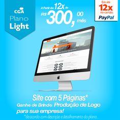 Pacote Light   Site com 5 Páginas*  Ganhe de BRINDE uma produção de LOGO para sua empresa!  Seu site em até 72 horas no ar!**  **De acordo com aprovação do layout. * Páginas Home, Contato e Quem somos OBRIGATÓRIAS.