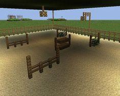 Covered Show Jumping Hunter Jumper Arena Minecraft Horse Stables, Minecraft Barn, Modern Minecraft Houses, Minecraft Houses Survival, Mine Minecraft, Minecraft Plans, Minecraft House Designs, Minecraft Construction, Minecraft Tutorial