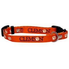 Sports Fanimals - Clemson Tigers Dog Collar, $10.95 (http://www.sportsfanimals.com/Clemson-Tigers-Dog-collar-nylon/)