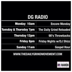 New shows coming soon! Stay tuned #TheGrind #DGRadio