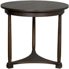 "Vanguard Furniture: 8312L-SX Cyril Lamp Table 32""D x 29""H end side table"