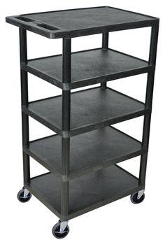 5 Flat Shelf Utility Cart