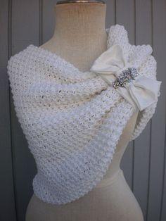 bridal bolero shurg wedding shawl custom order by denizy03 on Etsy, $114.00