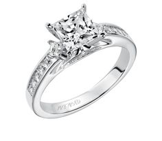 Elena (#31-V185FCW-E) - Three Stone - Designer Engagement Rings, Fine Jewelry & More. Serving San Carlos, Redwood City, Belmont, Foster City, San Mateo & the entire bay area.