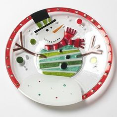 Snowman Glass Fusion Plate by Lori Siebert by Demdaco, http://www.amazon.com/dp/B001SWDPXI/ref=cm_sw_r_pi_dp_cQZXqb1SJ9A4V