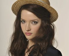 Mary Bennet in a straw hat...   Talulah Riley