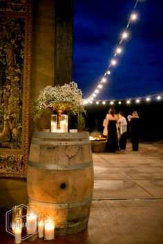 Jenn & Sarah's wedding at Swiftwater Cellars. They made great use of wine barrels and candles!