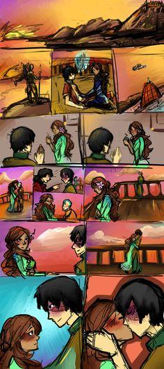 Rewriting History by Alagaesha on DeviantArt Katara Y Zuko, Avatar Zuko, Avatar The Last Airbender, Team Avatar, Avatar Funny, Cartoon Tv, Cartoon Drawings, Cartoon Ships, The Last Avatar