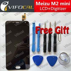 Meizu m2 mini pantalla lcd de 5.0 pulgadas + pantalla táctil + herramientas de alta calidad hd digitalizador asamblea reemplazo para el teléfono móvil