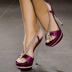 Shoes - Purple High-Heels. Great for Homecoming and/or Prom!