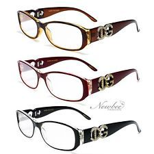 5bd65b16eb Women Readers Reading Glasses Black Red Fashion Designer Various Strengths