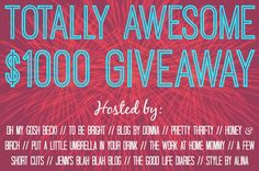 Put A Little Umbrella In Your Drink: Totally Awesome Giveaway :: Enter to Win $1000 Cash!