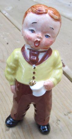 vintage figurine Barber Shop Quartet singer by paintallday on Etsy, $10.00