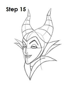 How to Draw Maleficent from Disney's Sleeping Beauty
