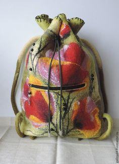 рюкзак цветочный - разноцветный,цветочный,рюкзак,рюкзак женский,рюкзак валяный