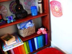 Peaceful meditation space for children.  I want to create a space like this for my children.  From herewearetoghter.com