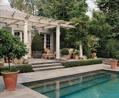 Two of my favorite things here; a pergola and a built-in swimming pool.