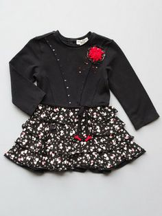 Eliane et Lena Toddler Girls Black Scarlette dress for Fall 2013. Available for preorder at http://www.llbdshop.com/cart/7751/143768/Eliane-et-Lena-Toddler-Girls-Black-Scarlette-Dress/