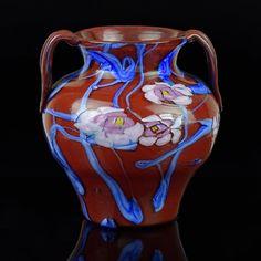 Artisti Barovier Murano A Murrine Floreali Glass Vase Venetian Glass, Murano Glass, Mosaic Glass, Glass Art, Italian Art, Vintage Art, Flower Arrangements, Enamel, Pottery