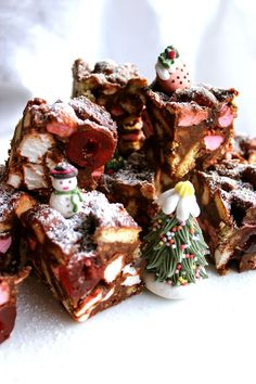 christmas rocky road squares