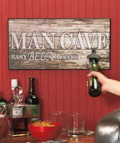 Beer Bottle Soda Pop Opener Home Pub Bar Man Cave Wood Wall Sign | eBay