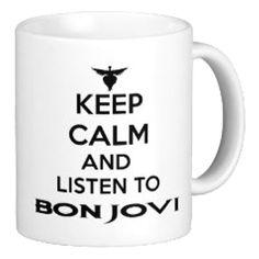 Keep Calm And Listen to Bon Jovi Mug | Tee Shirt Galaxy - Custom Sports Tees and Mugs #BonJovi