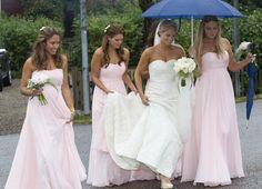 Princess Madeleine of Sweden as a bridesmaid in her best friends wedding.