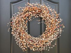 Autumn wreath decoration for our kitchen. Just gorgeous!