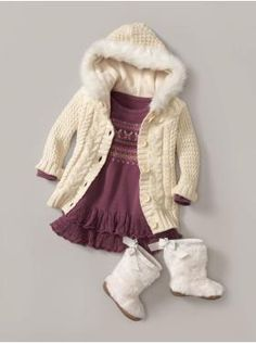 sweater dress plus over sweater plus furry boots= cute!