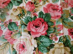 Antique Roses Paisley Lawn Cotton Fabric  #1 ~ Soft Rose Beige ~ dolls bears