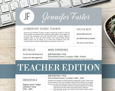 Modern Resume Template for Word, Page Resume + Cover Letter + Reference Page Teacher Resume Template, Modern Resume Template, Resume Templates, Templates Free, Cover Letter For Resume, Cover Letter Template, Letter Templates, Resume Tips, Resume Examples
