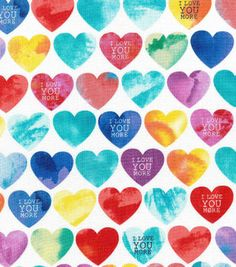 Novelty Cotton Fabric- I Love You More