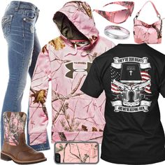 a32ac48c69b1 They re Our Rights Pink Camo Outfit - Real Country Ladies Camo Girl Outfits