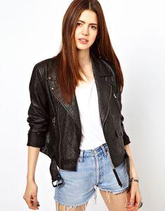 Just Female Leather Biker Jacket #HDNaughtyList