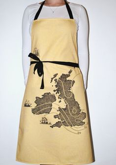 UK Map Apron