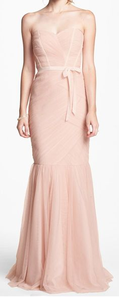 beautiful tulle trumpet bridesmaid dress  http://rstyle.me/n/gwhvrpdpe    jaglady