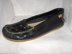 Camper womens black leather slip on's size 41/9.5  #CAMPER #Slides #Casual