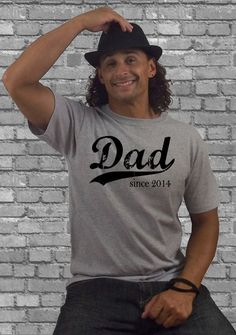 Personalized Dad T shirt - Dad since (any year) - Gift for Dad - men's t shirt