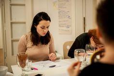 Working on our manifesto (photo by Roman Birickai)