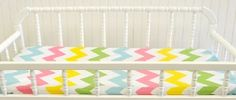 New Arrivals Inc Zig Zag Baby in Rainbow Changing Pad Cover