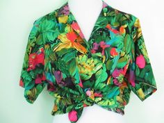 Vintage 80's Hawaiian Shirt Bright Colorful by ChinaCatVintage